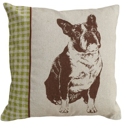 Boston Terrier 100% Linen Screen Print Pillow