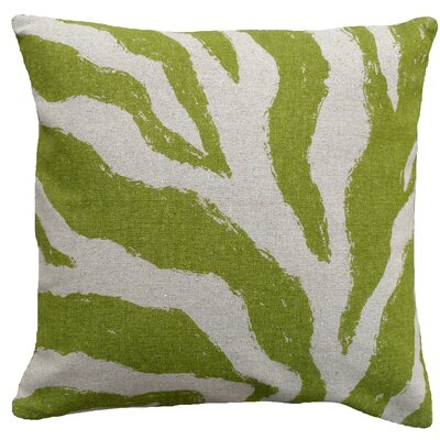 123 Creations Zebra 100% Linen Screen Print Pillow