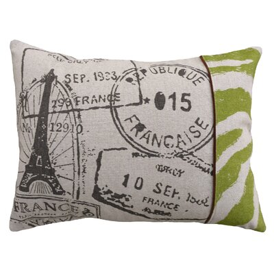 Stamps 100% Linen Screen Print Pillow
