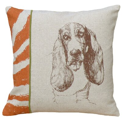 Basset Hound 100% Linen Screen Print Pillow