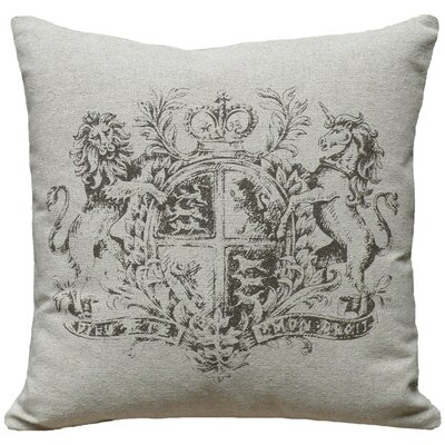 Crest 100% Linen Screen Print Pillow