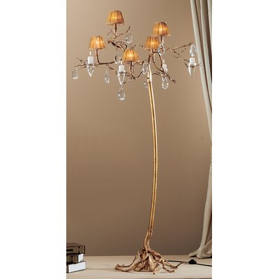 Classic Lighting Morning Dew 5 Light Chandelier in Natural Bronze