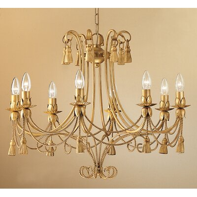 Rope and Tassel 8 Light Chandelier