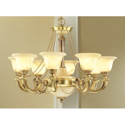 Classic Lighting Monica 8 Light Chandelier