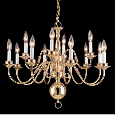 Classic Willaimsburgs 12 Light Chandelier