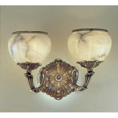 Classic Lighting Alexandria I 2 Light Wall Sconce