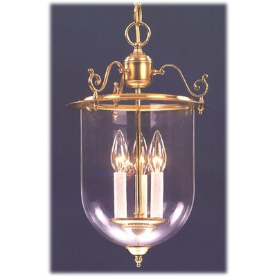 Classic Lighting Asheville Lantern 3 Light Foyer Pendant