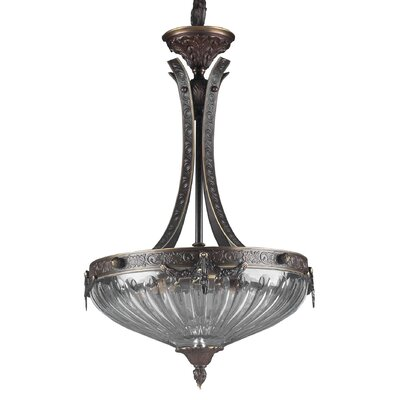 Classic Lighting Warsaw 3 Light Inverted Pendant
