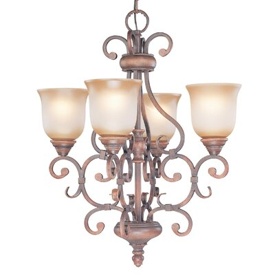 Classic Lighting Eagle Pointe 4 Light Chandelier