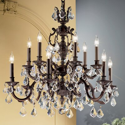Classic Lighting Chateau 12 Light Chandelier