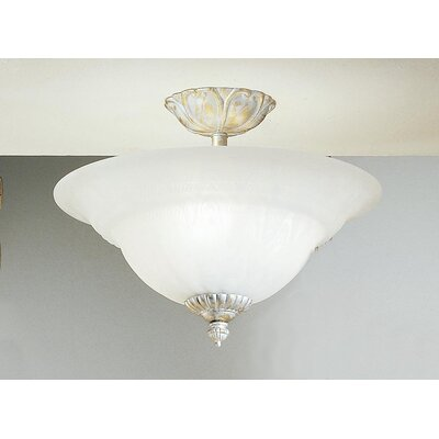 Classic Lighting Yorkshire 3 Light Semi-Flush Mount