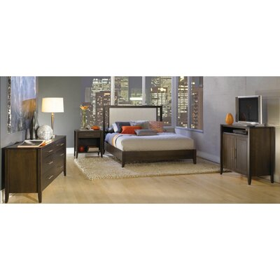 Copeland Furniture Dominion Leather Upholstery Panel Bedroom Collection