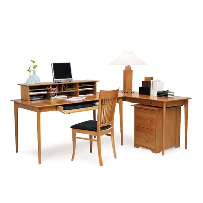Copeland Furniture Sarah Desk with Keyboard Tray