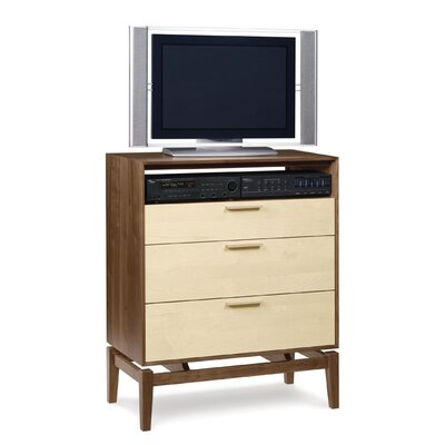 Copeland Furniture SoHo 3 Drawer Chest with Media Organizer