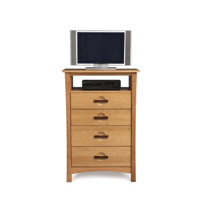 Copeland Furniture Berkeley 4 Drawer Chest with Media Organizer
