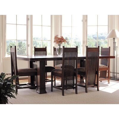 "Copeland Furniture Frank Llloyd Wright Dana-Thomas 60 - 84"" W x 42"" D Extension 7 Piece Dining Set"