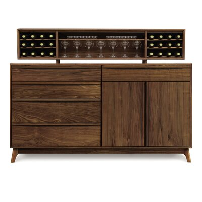 Copeland Furniture Catalina 4 Drawers on Left Buffet with Hutch