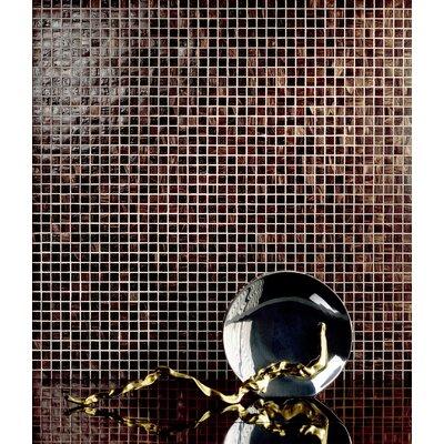 Casa Italia Monocolor Glass Mosaic in Brunito Bronze