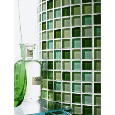 Casa Italia Crystal-A Glass Mosaic in Mix Green Gloss