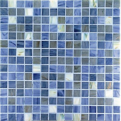 "Casa Italia Project Plus 13"" x 13"" Glass Mosaic in Mix Grigio Bronze"