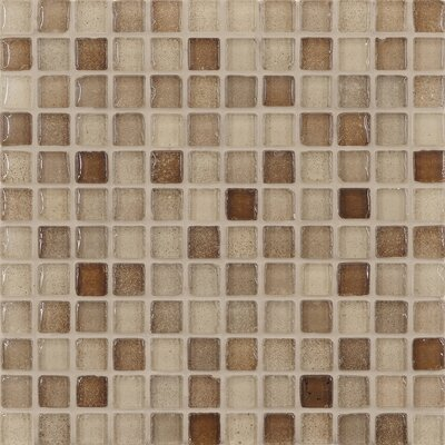 "Casa Italia Fashion 11.75"" x 11.75"" Glass Mosaic in Mix Fashion Sand"