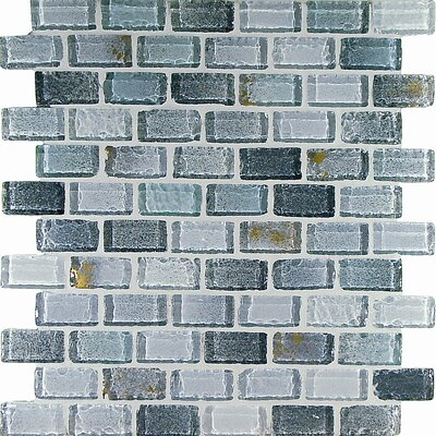"Casa Italia Fashion 11.75"" x 11.75"" Glass Mosaic in Mix Fashion Grigio"