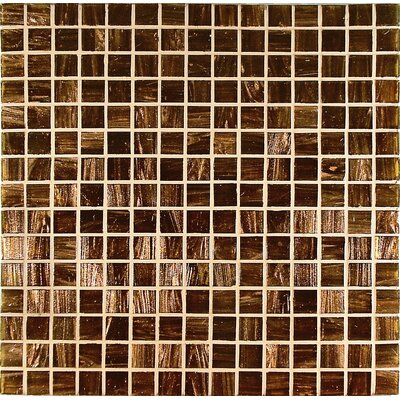 Casa Italia Bronze/Gold Monocolor 3/4&quot; x 3/4&quot; Glass Mosaic in Marrone Monocolor Bronze