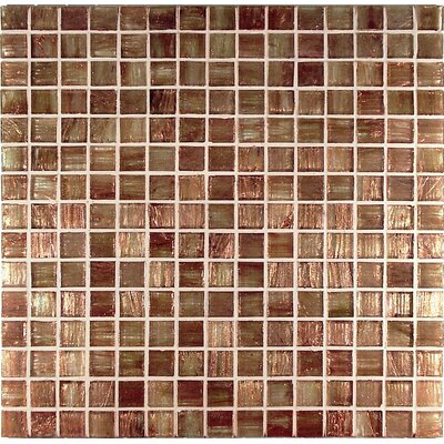Bronze/Gold Monocolor Glass Mosaic in Ramato Monocolor Bronze