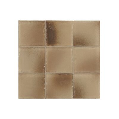 "Casa Italia Fashion 4"" x 4"" Glass Mosaic in Mix Fashion Sand"