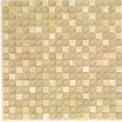 Pure & Natural Natural Stone and Glass Mosaic in Onix Beige