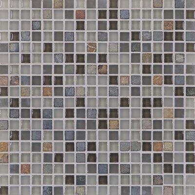 Casa Italia Pure & Natural Natural Stone and Glass Mosaic in Pure Grey and Natural Slate