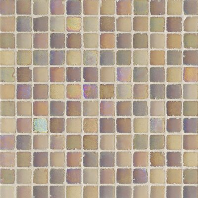 "Casa Italia Metallica Satin 1"" x 1"" Glass Mosaic in Pesca Metallica Satin"
