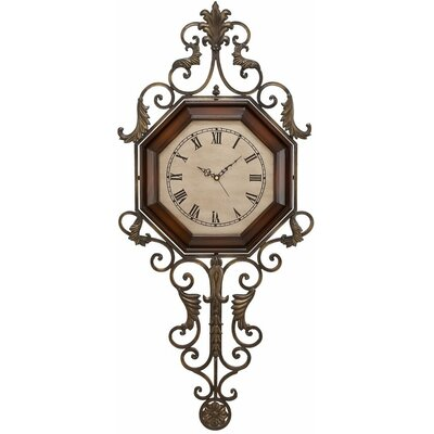 "Aspire 39"" Wrought Iron Wall Clock"