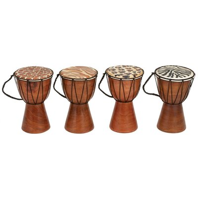 Aspire Animal Print Wood Drum (Set of 4)