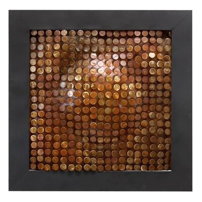 Abstract Copper Metal Wall Plaque