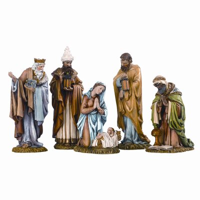 Roman, Inc. Five Piece Nativity Figurine Set
