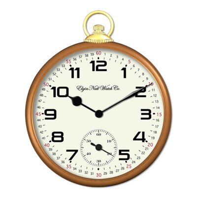Elgin Classic Pocket Watch Wall Clock
