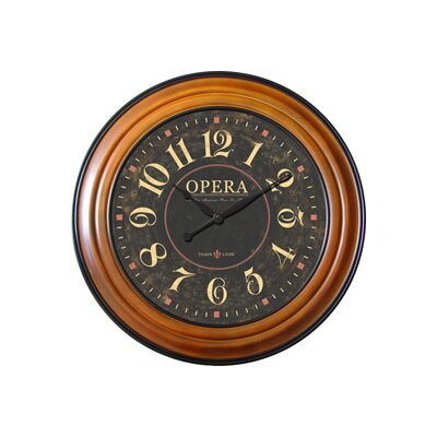 Opera Wall Clock in Walnut