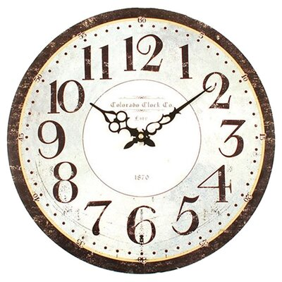 "Ashton Sutton Classic 16"" Colorado Wall Clock"