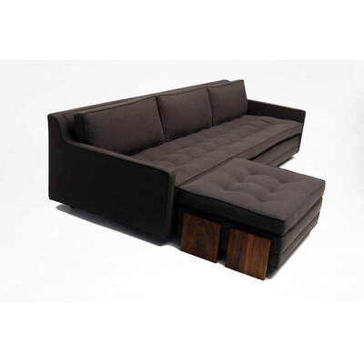 ARTLESS Up Three Seater with Ottoman in Graphite