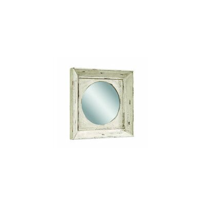 Bassett Mirror Alston Wall Mirror - Rusticated White