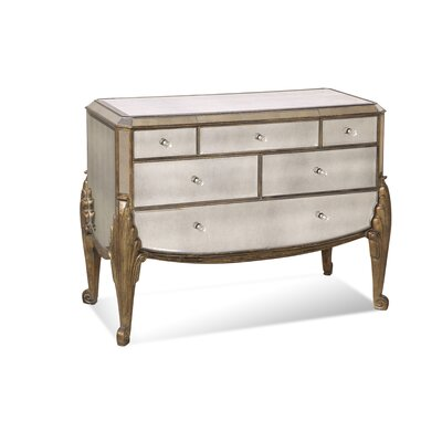 Bassett Mirror Collette 6 Drawer Hall Chest