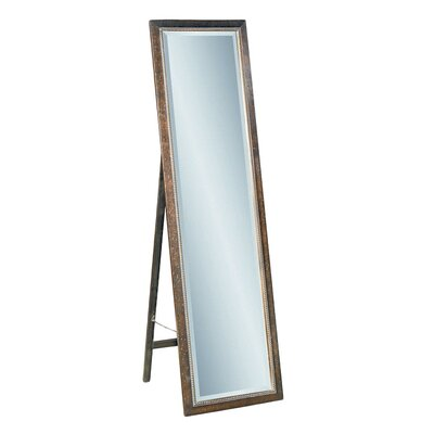 "<strong>Bassett Mirror</strong> 64"" H x 18"" W Beaded Cheval Mirror"