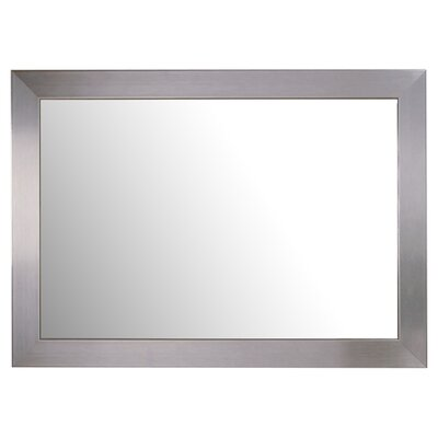 "<strong>Bassett Mirror</strong> 30"" H x 42"" W Stainless Wall Mirror"
