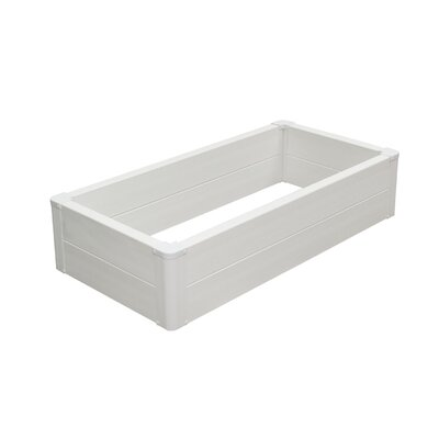 Vinyl Extra Deep Rectangular Raised Garden Bed Frame