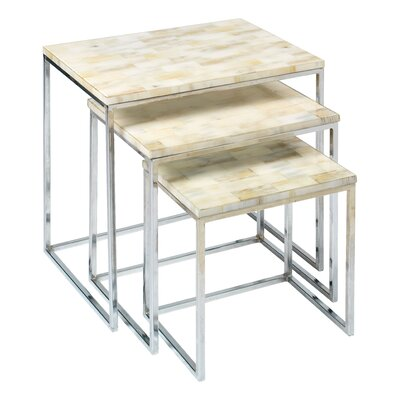 Jamie Young Company Faux Horn 3 Piece Nesting Tables