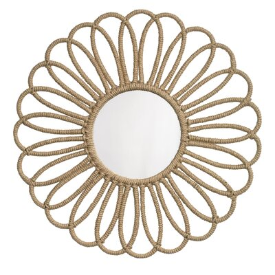 Jamie Young Company Flower Jute Mirror