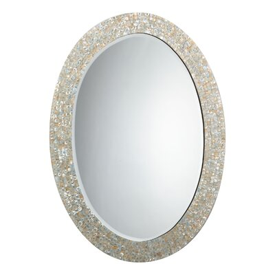Jamie Young Company Oval Mother of Pearl Mirror