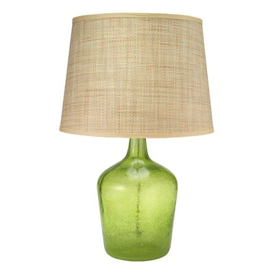 Jamie Young Company Celadon Seeded Glass Medium Plum Jar Table Lamp