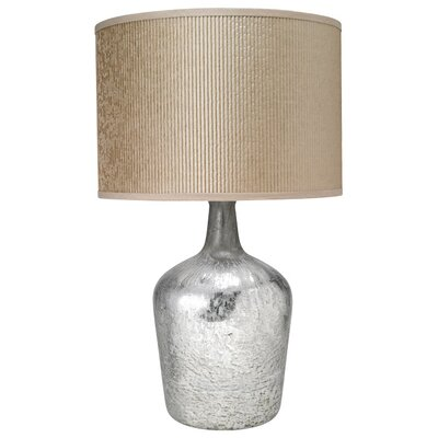 Jamie Young Company Textured Mercury Glass MD Jar Table Lamp with Classic Drum Shade